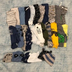 0-3 Months Baby Bundle Outfits